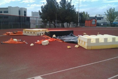 Track, lacrosse equipment destroyed