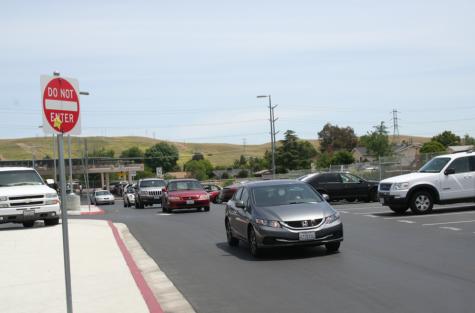 Back parking lot is a death trap