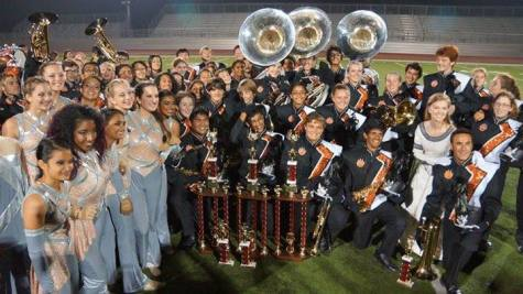 Cal's marching band, wind ensemble, and color guard earn top honors at competition