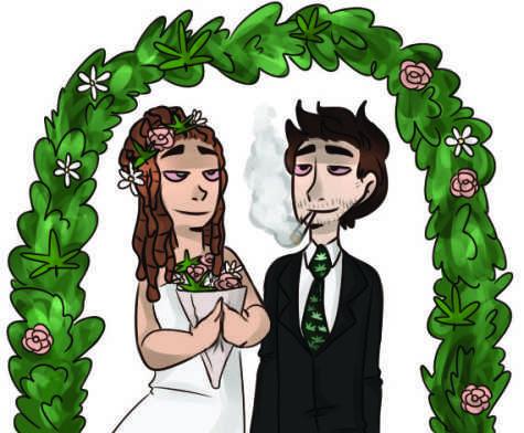"Newlyweds say, ""High do"""