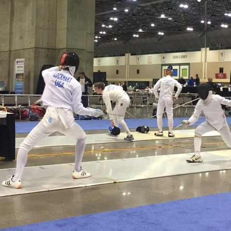 Cal students duel in the sport of fencing