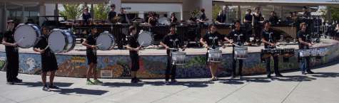 Cal drumline hosts, wins NorCal championship