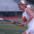 Senior Morgan Taylor charges down the field in Cal's win against Monte Vista. Taylor is committed to SDSU and currently leads Cal in goals scored.