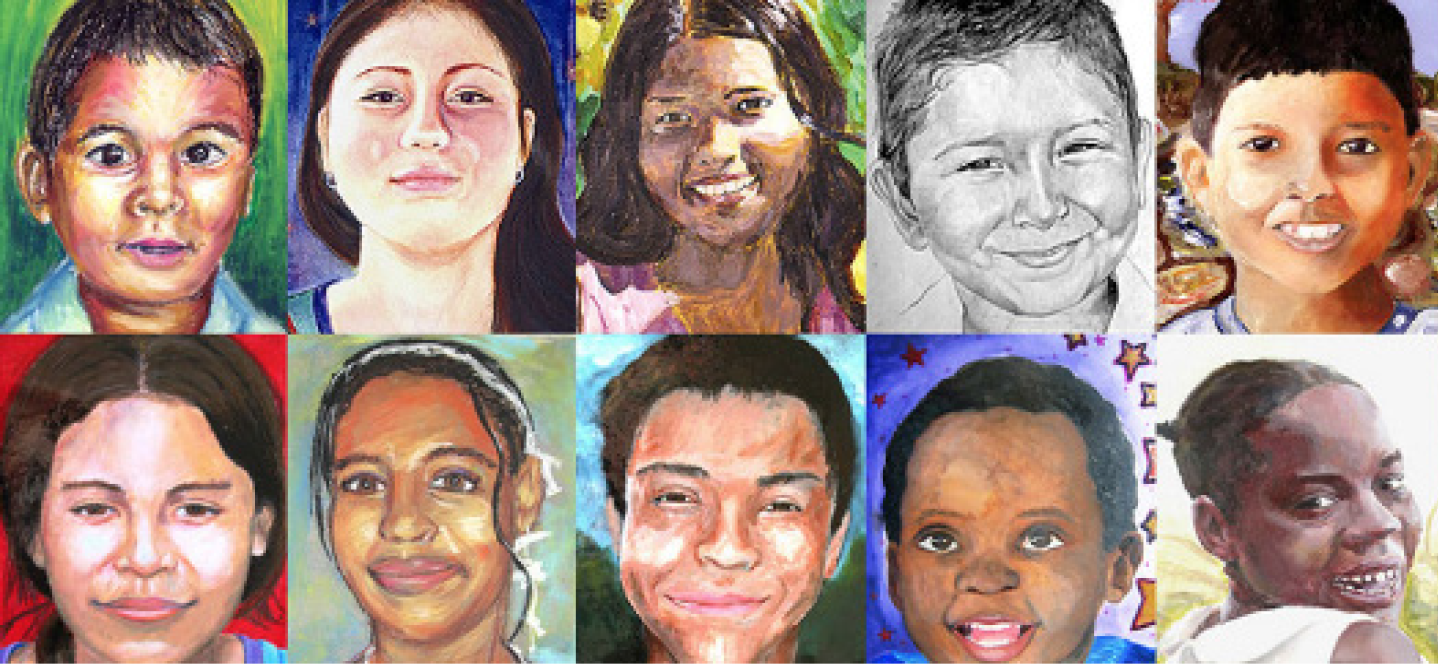 Cal+High+students+joined+with+many+others+worldwide+to+collaborate+with+the+Memory+Project+by+creating+portraits+of+children+facing+poverty+in+more+than+43+countries.