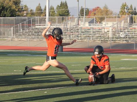 Sophomore kicks off football career