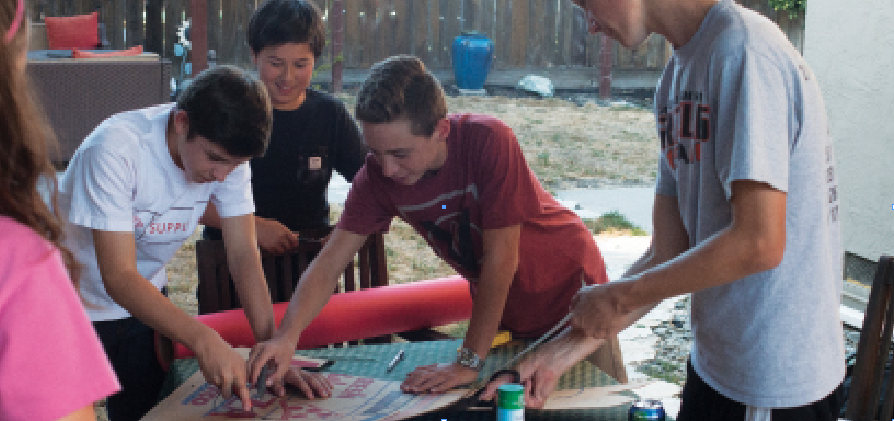 Freshmen students work hard to build an amazing float to represent their class. It will be featured along with the other floats during Friday's homecoming parade, which starts at 1 p.m. at Athan Downs Park.