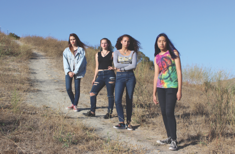 Above, the all-girl band Novicain Road includes, from left to right, drummer Mia Wallace, bassist Jessica Stephens,  singer Gabby Reid, and guitarist Ursella Cheung.