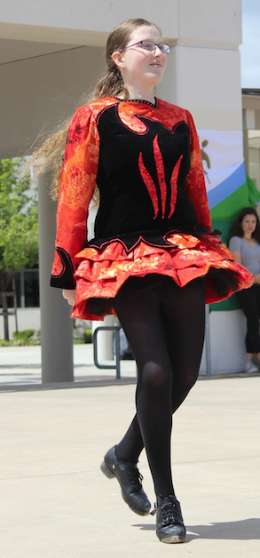 Senior Katelyn Hefter performed a traditional Irish dance for Cal High's Multicultural Fair during lunch on April 14.