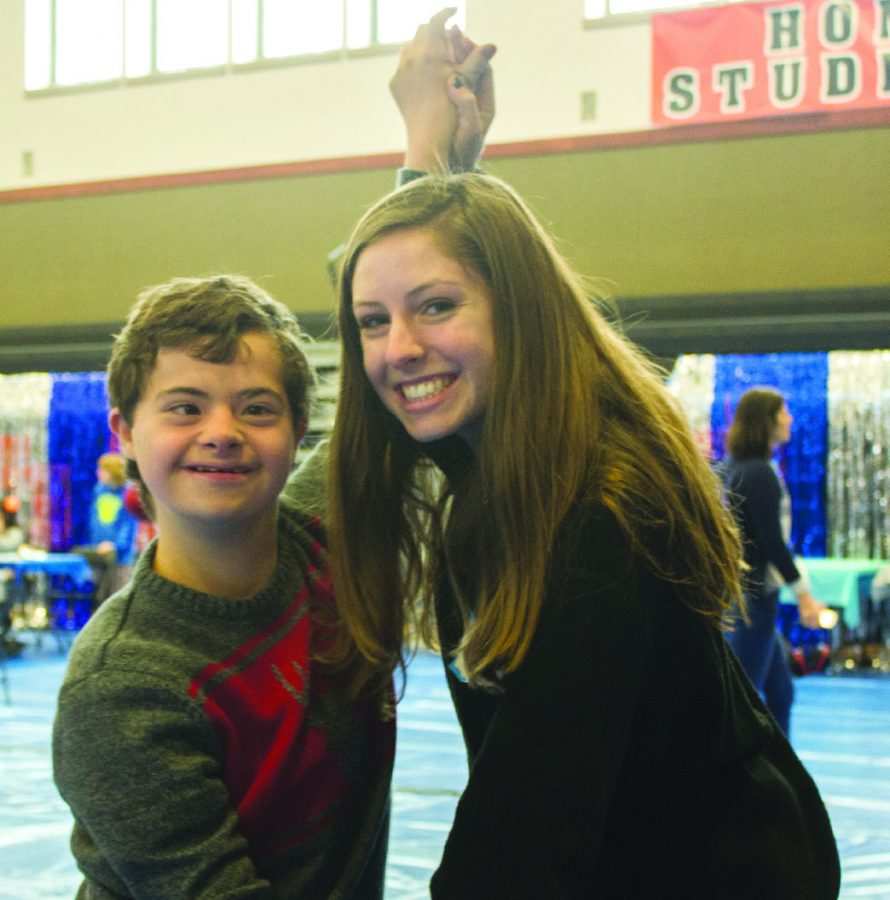 Christian, left, and Kinsey dance with each other at Winter Wonderland on Dec. 2. Both students are from other schools, but participated in the dance at Cal High.