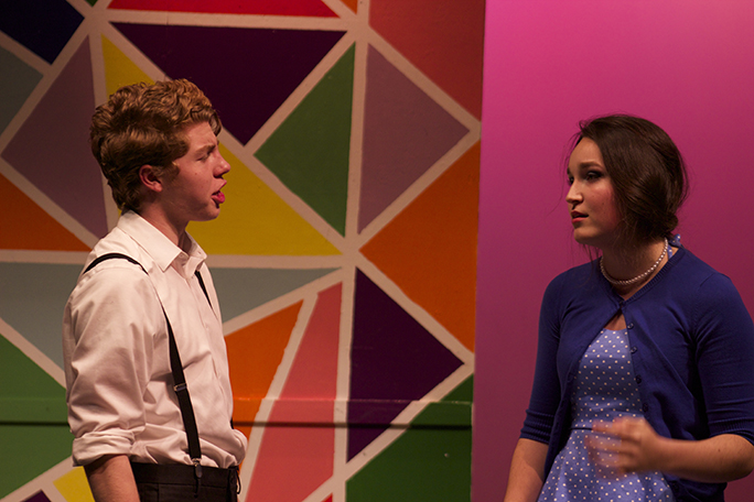 Senior Kieran O'Connor and junior Jillian Weber playing their roles as Helen and John in the outstanding performance last week.