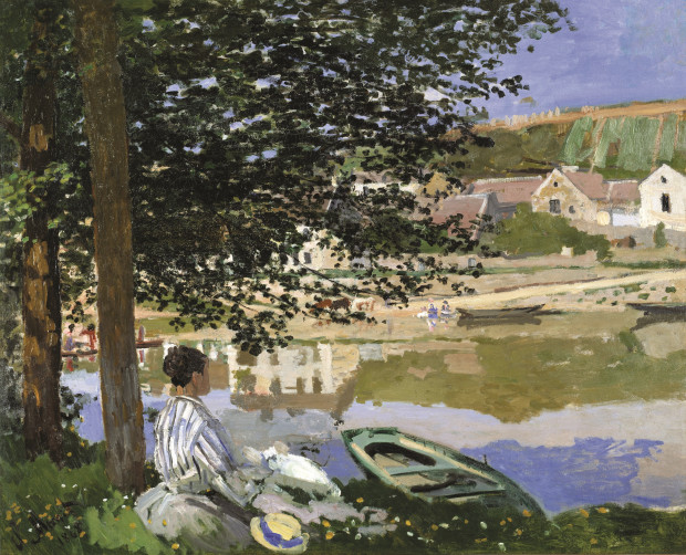 Claude+Monet%27s+1868++%22On+the+Bank+of+the+Seine%2C+Bennecourt%2C%22+can+be+seen+at+the+Legion+of+Honor+Museum.+