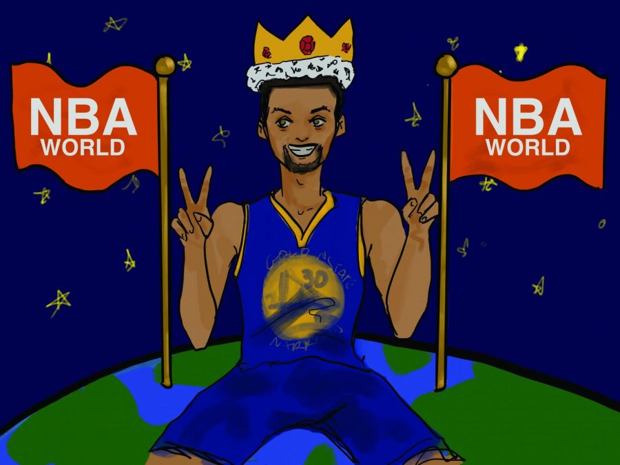 Stephen+Curry+and+the+Golden+State+Warriors+are+on+top+of+the+NBA+world+after+winning+their+second+championship.
