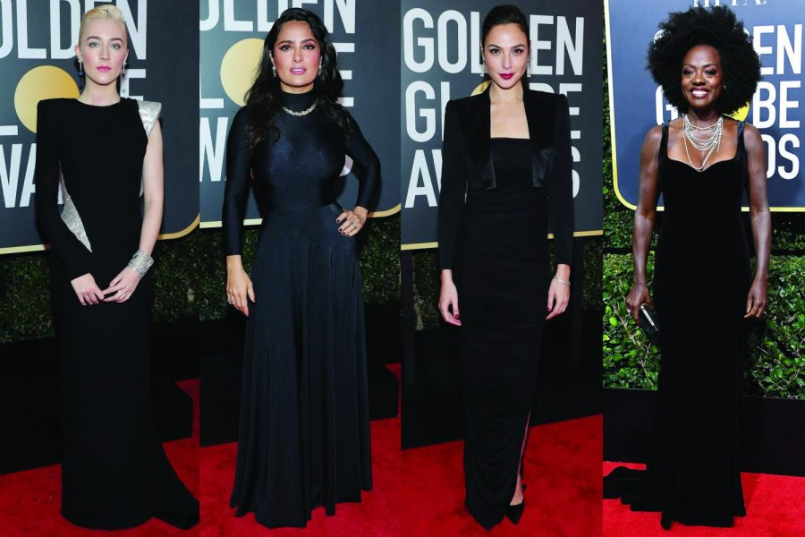 Women+stand+strong+together+at+Golden+Globe+Awards