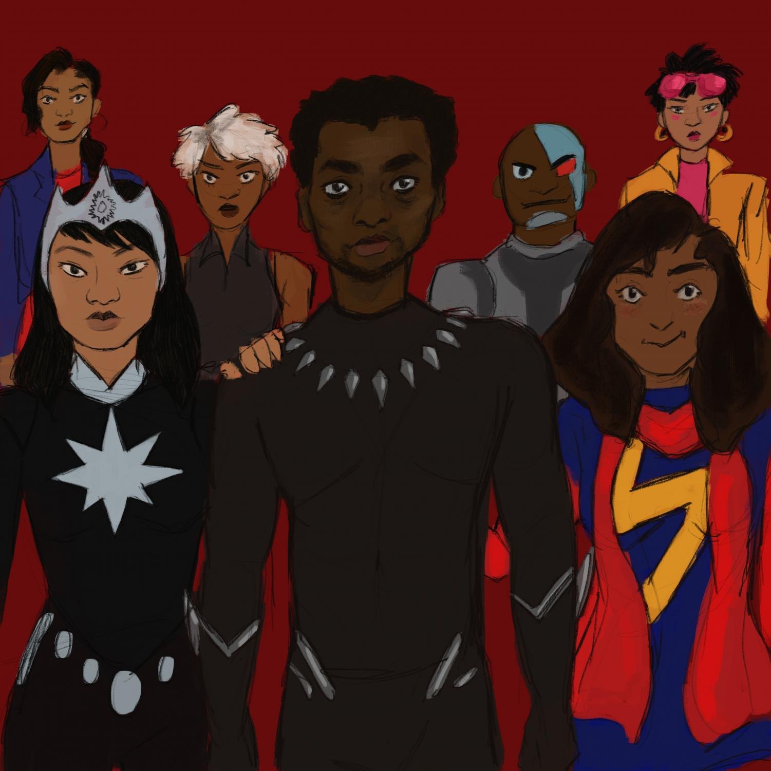 Hollywood is accepting the idea that minorities as superheros can make successful movies.