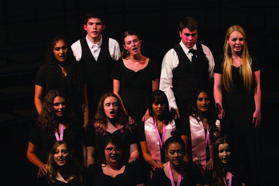 Jazz+choir+performing+at+the+farewell+concert+on+May+17.+Front+row%3A+Byrd+Mifsud%2C+Hannah+Hall%2C+Kelia+Barrientos%2C+Giovanna+Silva.+Second+row%3A+Asha+Ray+Chaudhuri%2C+Ilene+Morrisette%2C+Himadri+Gupta%2C+Noorain+Patel.+Back+row%3A+Swetha+Sankar%2C+Jordan+Limesand%2C+Maren+Callaway%2C+John+Symank%2C+Alexis+Rauba.+Not+pictured%2C+Ryan+Boyle.