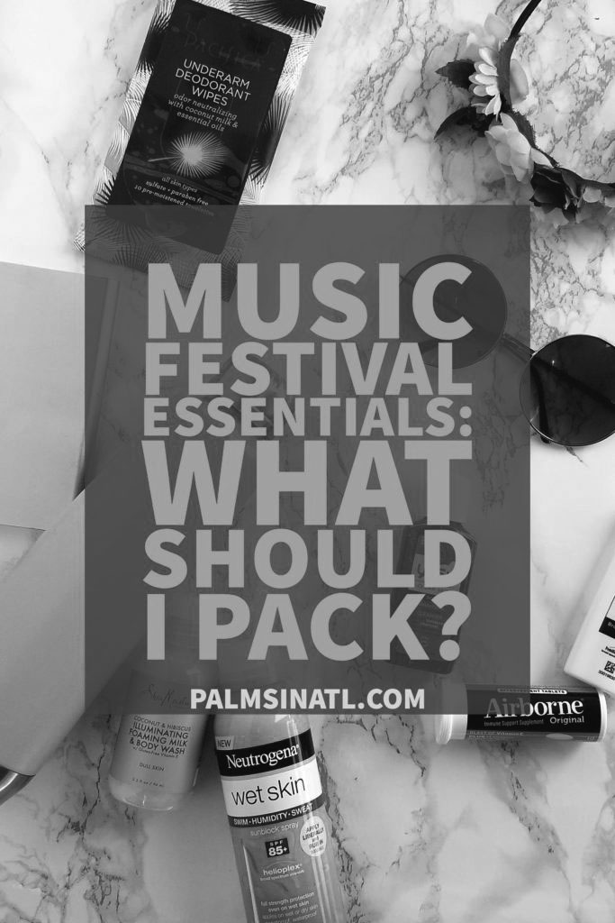 Don't forget to pack sunscreen, granola bars, or a portable charger before attending a music festival this summer.