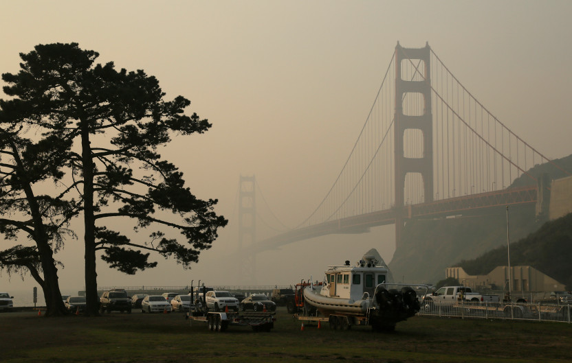 The Golden Gate Bridge was hidden in smoke last month as a result of the Camp Fire in Butte County. At its worst, the Air Quality Index exceeded 200, which is considered very unhealthy. An AQI below 50 is considered healthy. For a few weeks, the Bay Area had some of the worst air quality in the world.