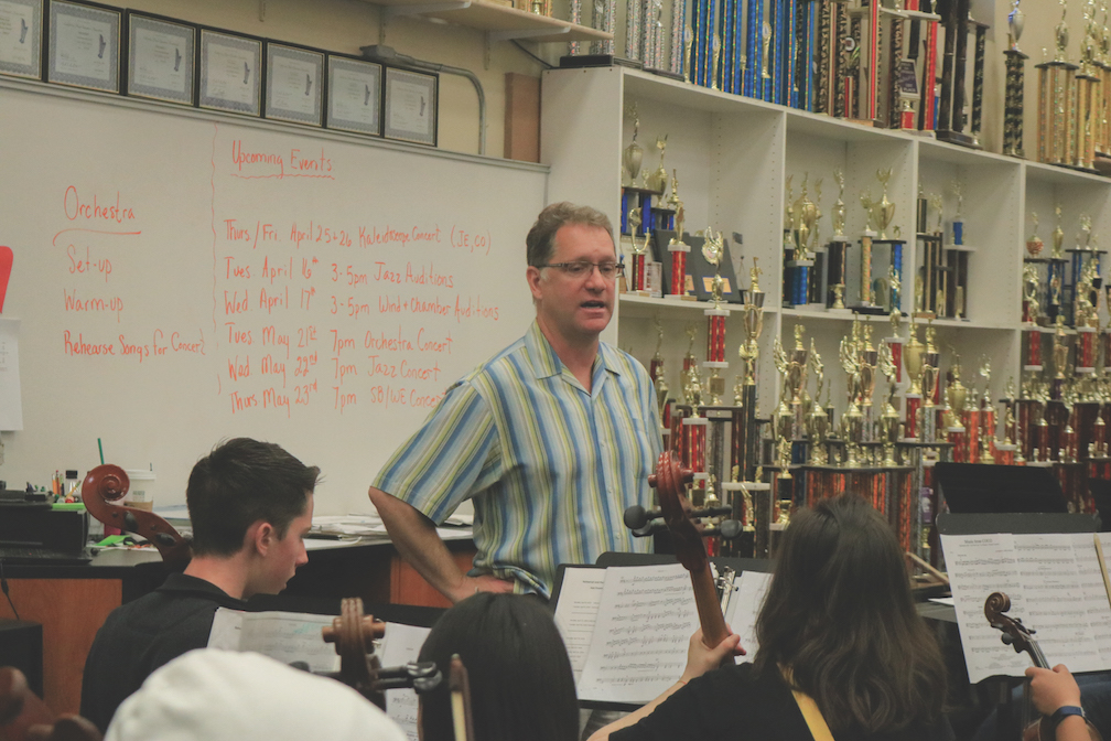 Band director Kent Johnson has taught at Cal High for the past 15 years.