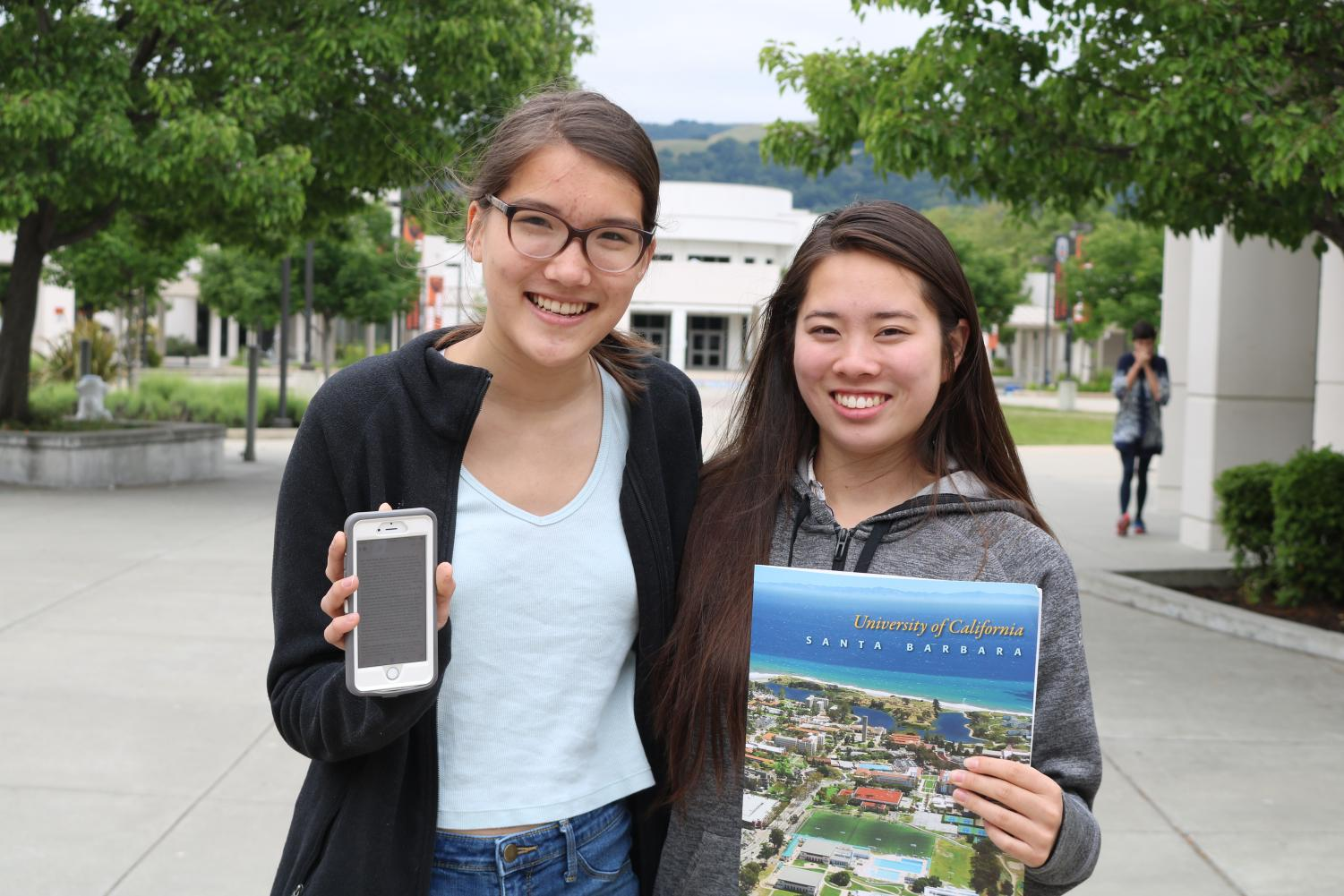 Sophomores Celeste Paapanen, left, and Kimi Shirai are among the Cal High students who landed internships this summer. Paapanen will be interning for Supervisor Wilma Chan at Alameda County District 3, while Shirai is part of UCSB's Research Mentorship Program.