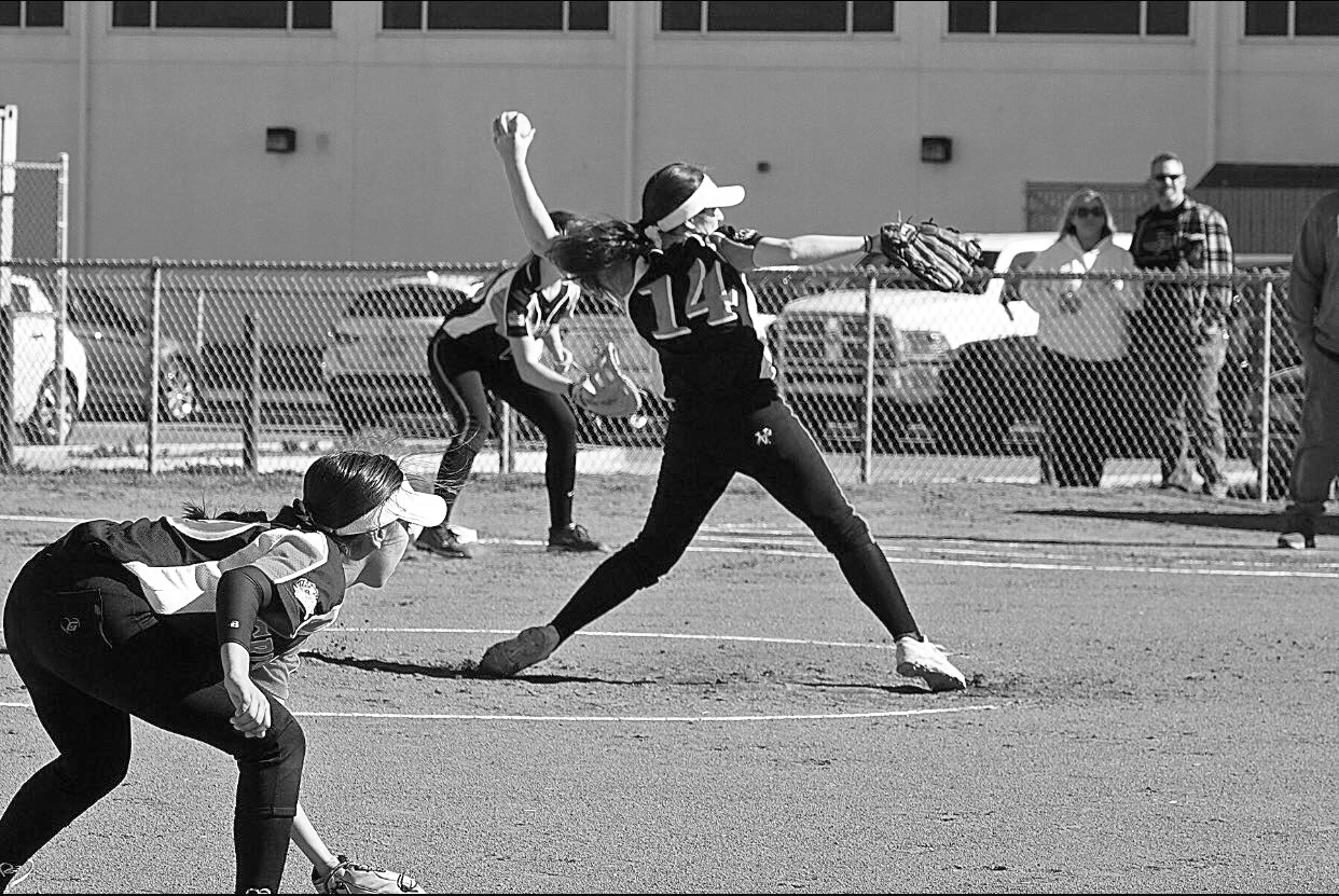Grizzly ace and senior captain Lainey Hanehan delivers a pitch for Cal, which had won 10 straight games heading into its first-place showdown with Foothill on Tuesday. The team wraps their season today at home against Carondelet.