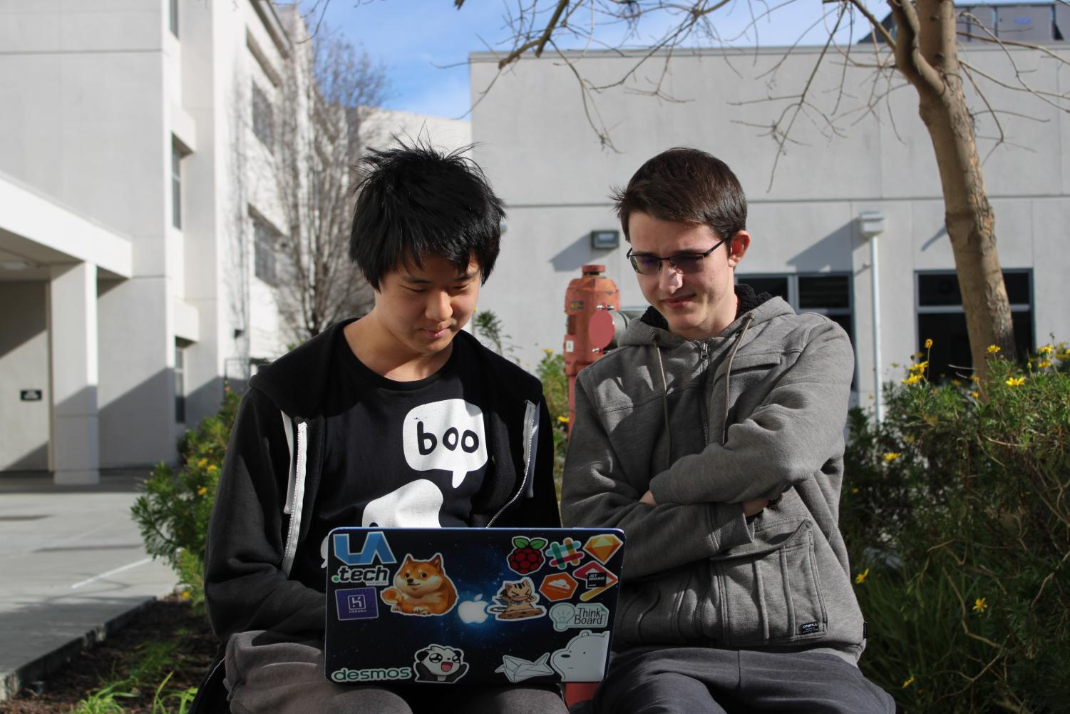 The SRC Hacks (pronounced source hacks) coding event, run by seniors Chris Liu, left, and Andrew Moshkovich, will be Feb. 22-23 in San Francisco. Participants will create their own coding projects over a 24 hour period.