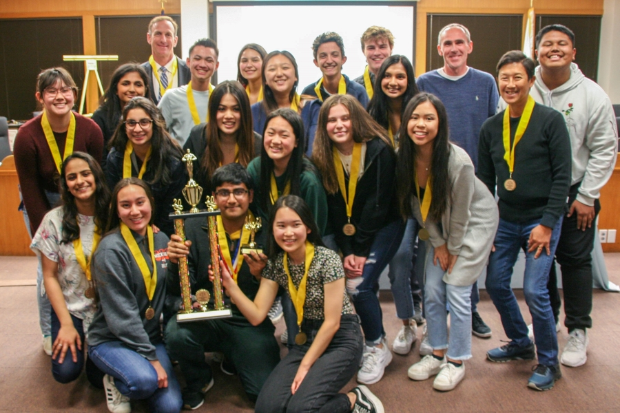 Cal's mock trial team won first place in the county competition for the third time in a row. Photo courtsey of Contra Costa County Office of Education.