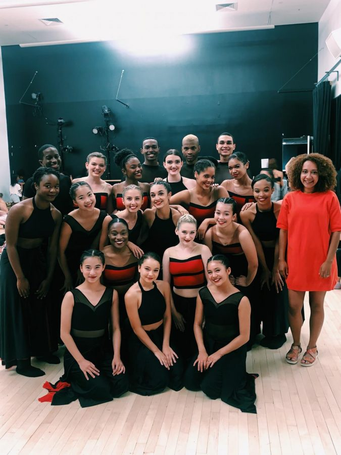 Pictured above is senior Abby Nguyen with the rest of her cast at the end of a program show. Nguyen is going to pursue a career in professional dance.