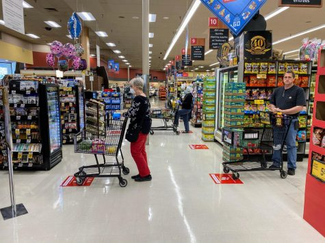This picture was taken at the Safeway on San Ramon Valley Blvd. before the mandate to wear face masks in public.