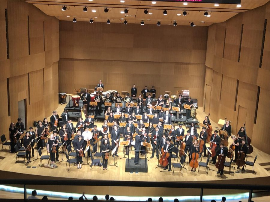 The+Oakland+Symphony+Youth+Orchestra+is+pictured+above+during+its+2019+concert+tour+of+China+after+its+performance+in+Beijing%27s+Xi%27an+Concert+Hall.
