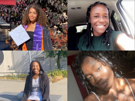 Students pictured are Paige McKindra (top left), Jordan Nabwe (top right), Chinwe Nwankwo (bottom left), and Lajolie Beugre (bottom right).