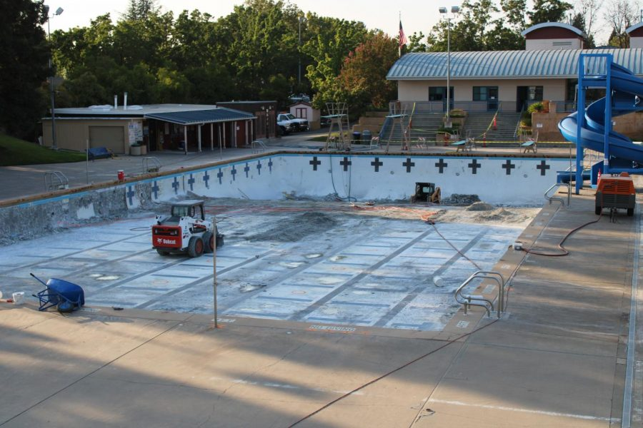 With water polo players and the rest of high school athletes are sidelined until at least December because of the coronavirus pandemic, the San Ramon community pool that is used by Cal High is under construction. It hopefully will be completed before water polo players begin their seasons in mid-December.