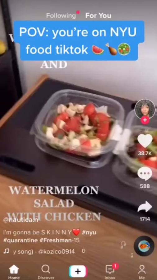 NYU students who were forced to quarantine were served everything from watermelon salad with chicken to moldy fruit to soggy bread. Yum.