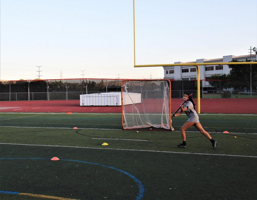 Student athletes have been able to work out in small groups at the Cal High field while maintaining social distancing.