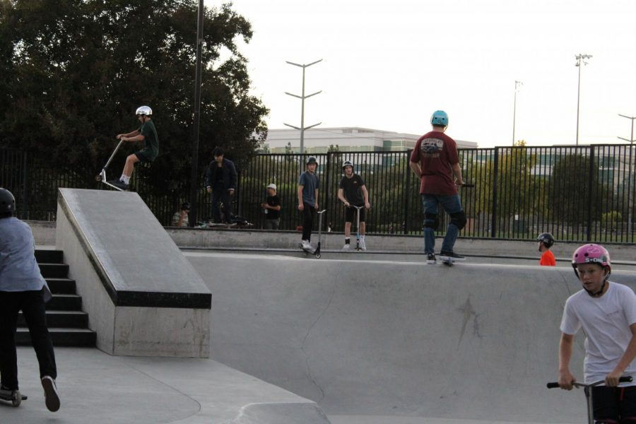 Many teens and kids recently enjoyed the San Ramon skate park. While a sign at the park's entrance reads a maximum of 20 people allowed an no social gatherings, many skaters were observed not social distancing and none were wearing masks.