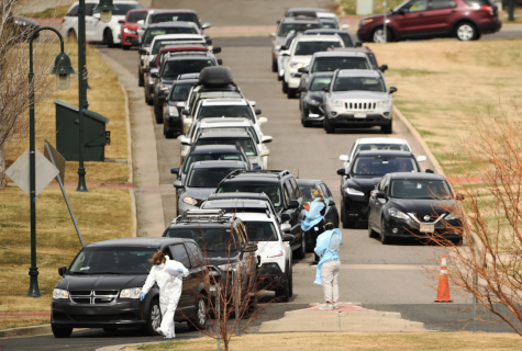 Cars have lined up across the US for people to get tested for COVID-19.