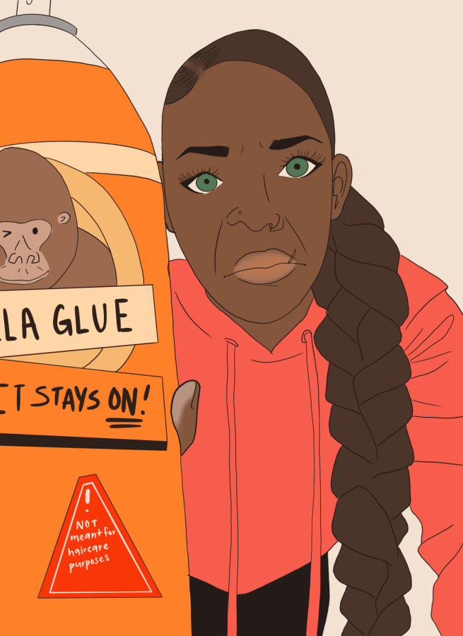 WARNING: Gorilla Glue is not a haircare product. It's called glue for a reason.