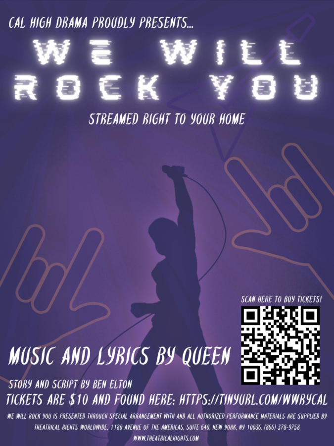 Theater+arts+students+are+performing+%22We+Will+Rock+You%22%2C+a+musical+that+was+originally+scheduled+for+last+spring.+The+performance+was+postponed+because+of+COVID-19+and+is+now+available+as+a+Zoom+show.