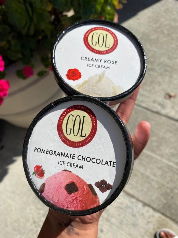Golnazar Gourmet Ice Cream at 12983 Alcosta Blvd. near Iron Horse Middle School offers the best ice cream in San Ramon.
