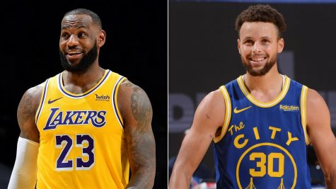 LeBron James, left, and Steph Curry will face off Wednesday night in the NBA