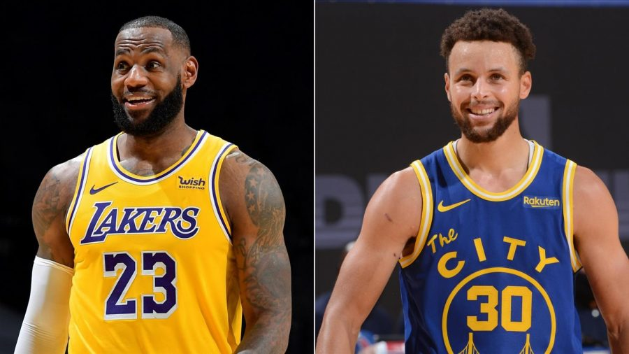 LeBron James, left, and Steph Curry will face off Wednesday night in the NBA's inaugural Play-In Tournament. The winner will face Phoenix in the first round of the playoffs, while the loser will play the winner of Memphis and San Antonio to determine who plays top-seeded Utah in the first round.