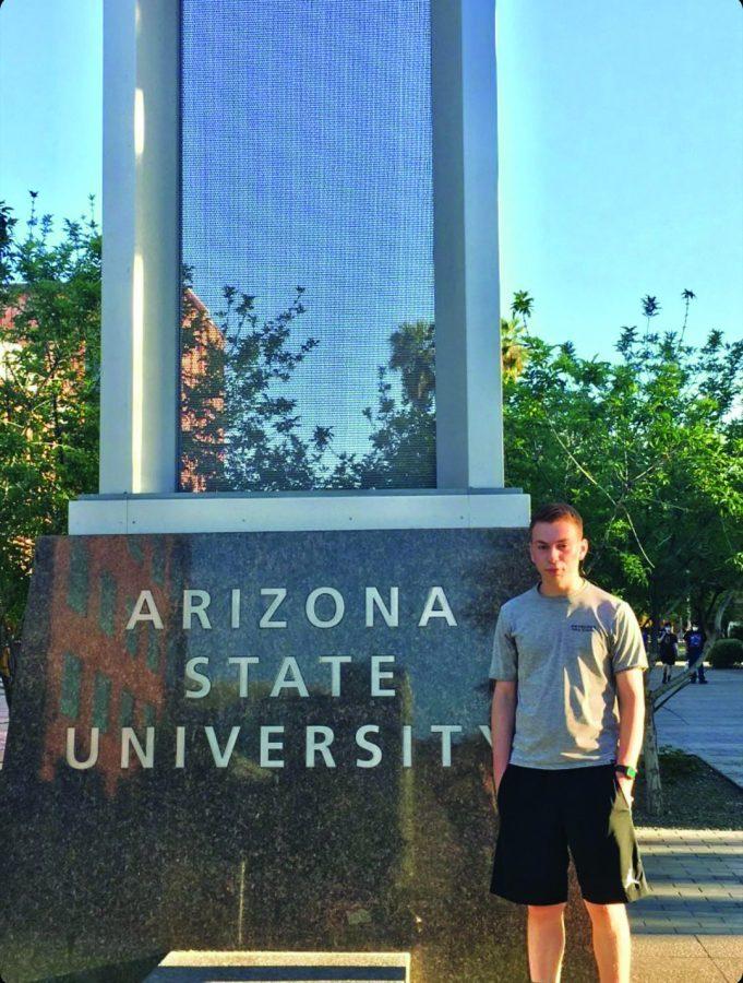 Senior Jacob Pfister is attending Arizona State Universitys Professional Flight program in Mesa next year.
