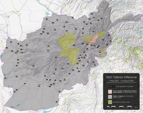 This map of Afghanistan shows what the country looked like on Aug. 15 when Kabul fell to the Taliban.