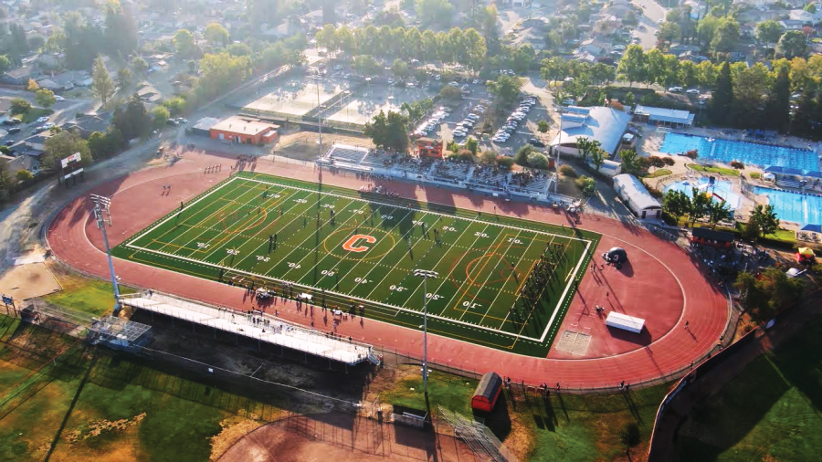 Cal High's brand new football field was installed this summer after a year long delay and it has already made a big impact this school year.